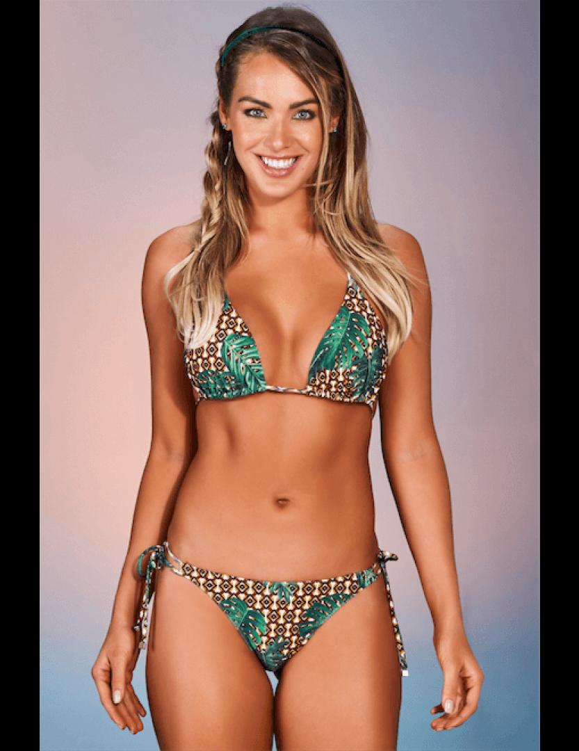 Biquíni conjunto de top cortininha e calcinha Adão Beach