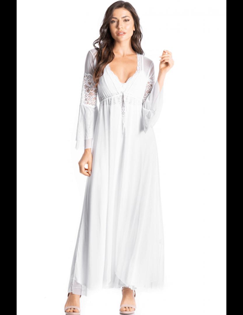 Robe feminino longo em tule Essencial