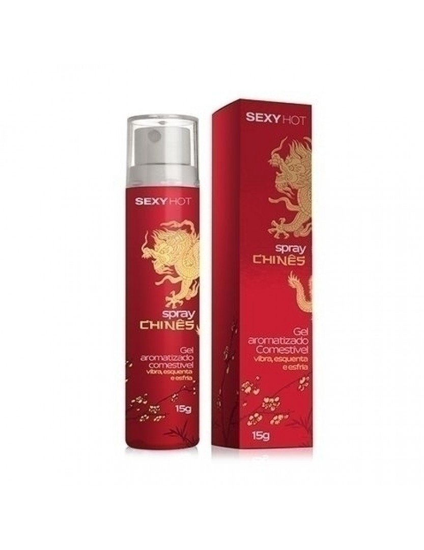 Spray Chinês - Gel Aromatizado - Vibra, Esquenta e Esfria 15ml