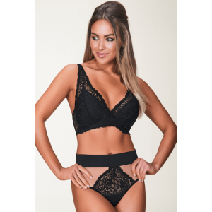 Calcinha hot pant de renda e tule Dream