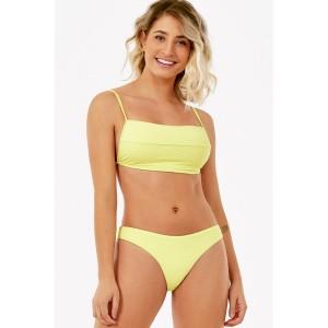 Biquíni conjunto de top quadrado e calcinha Amarelo Neon Beach