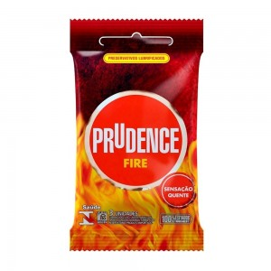 Preservativo Prudence Fire - 3 Unidades