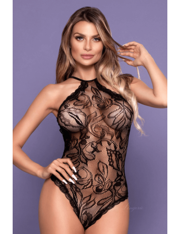 Body Choker Preto Sexy - Bodystocking Yaffa