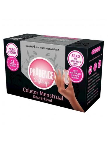 Coletor Menstrual Descartável Prudence SoftCup - 4 Unidades