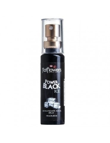 Spray Aromatizante Bucal Hot Flowers - Power Black Ice 18ml