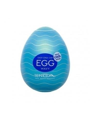 Masturbador Tenga Egg - Wavy Cool - Efeito Refrescante