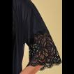 Robe feminino curto liso em micro e renda Sweet