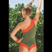 Maiô - Body um ombro só bicolor Aruba