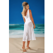 Saída de praia vestido midi em tule Sense