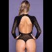 Body Decote nas Costas Preto Sexy - Bodystocking Yaffa