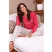 Pijama longo pink corações Essencial