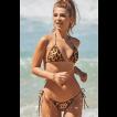 Calcinha de biquíni empina bumbum com amarração Aruba