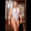 Body Arrastão Cavado Sexy - Bodystocking Yaffa