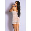 Mini Vestido Branco de Alcinha Sexy - Bodystocking Yaffa