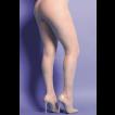 Meia Calça Arrastão Nude com Brilho Yaffa