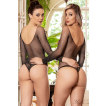 Body Preto com Strass Sexy - Bodystocking Yaffa