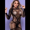 Mini Vestido Decote nas Costas - Bodystocking Yaffa